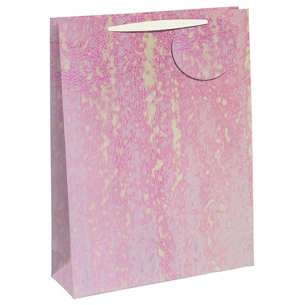 White Iridescent Embossed Perfume Gift Bag