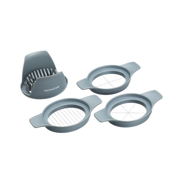 KitchenCraft 3 Piece Plastic Food Cutter With Stainless Steel Wire Slicers