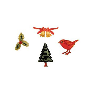 FMM embossing stamp set christmas/xmas 4 piece set