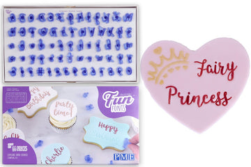 PME Fun Fonts Collection 1 Cupcake and Cookie Stamping Set - Alphabet and Numbers