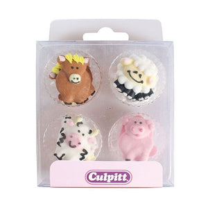Farmyard Friends Sugar Pipings pack of 12