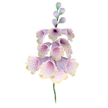 Foxglove Sugar Spray Floral Flower Cake Topper