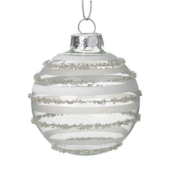 Silver Swirl Hanging Christmas Decorative Bauble
