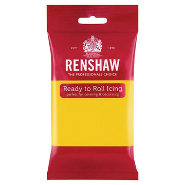 Renshaw Professional Sugar Paste Ready to Roll Icing - Yellow - 250g