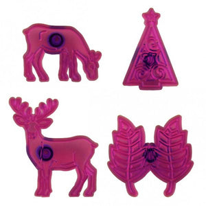 Jem Reindeer, Leaves & Christmas Scroll Tree