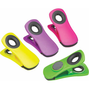 KitchenCraft Set of 4 Colourful Magnetic Memo Clips