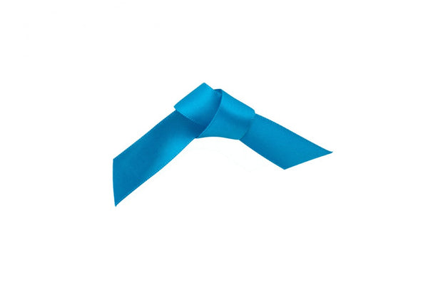 Woven Edge Satin Ribbon Kingfisher Blue 25mm