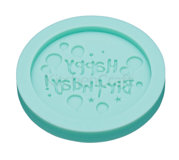 Kitchen Craft Sweetly Does it Easy Press 'Happy Birthday' silicone Mould
