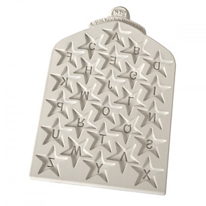 Katy Sue Mould - Star Alphabet Letter Moulds