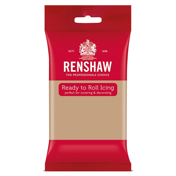 Renshaw Professional Sugar Paste Ready to Roll Icing - Latte - 250g
