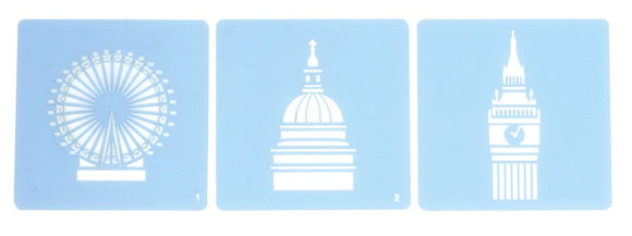 Culpitt London Icon Stencils set of 3