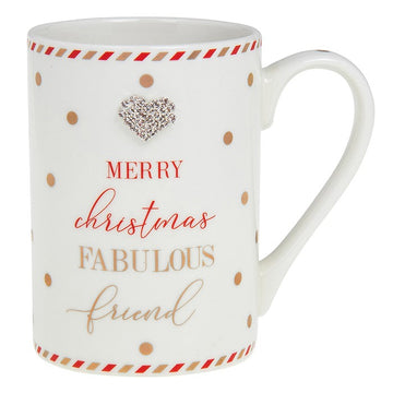 Mad Dots Merry Christmas Fabulous Friend Gift Mug