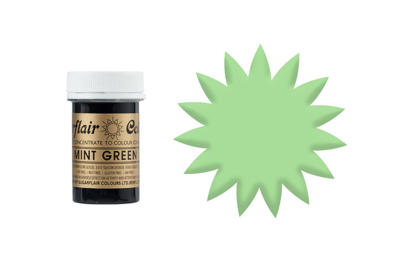 Sugarflair Paste Colours - Spectral Mint Green - 25g