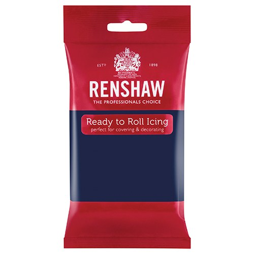 Renshaw Professional Sugar Paste Ready to Roll Icing - Navy Blue - 250g
