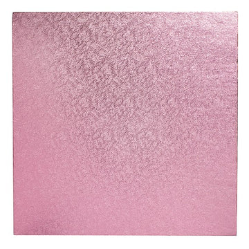 Square Cake Board Drum Pale Pink 10""