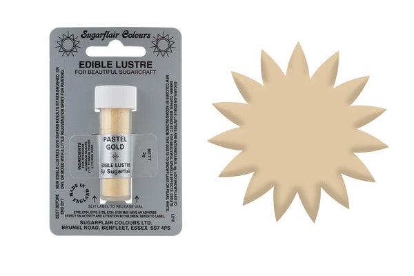 Sugarflair Edible Lustre Dust Pastel Gold