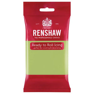 Renshaw Professional Sugar Paste Ready to Roll Icing - Pastel Green - 250g