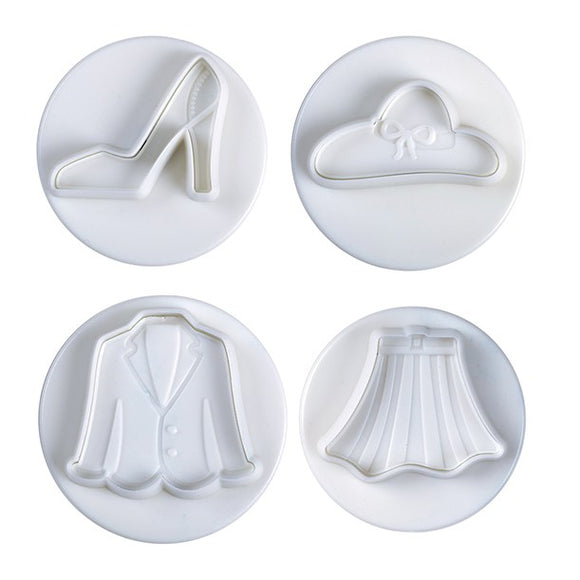 Pavoni Plunger Cutters Fashion 4 piece set