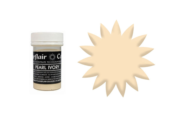 Sugarflair Concentrated Paste Colours - Pearl Ivory 25g
