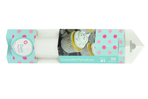 "Clear Piping Bags 41cm (16.5"") Roll of 20"