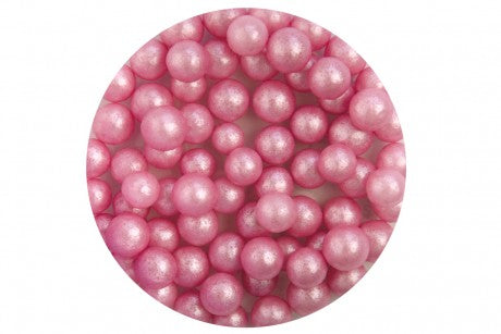 Scrumptious edible Pink Glimmer pearls 7mm