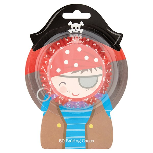 Pirate Cupcake Baking Cases - Pack of 50