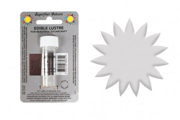 Sugarflair Edible Lustre Food Colour Dust Platinum Silver