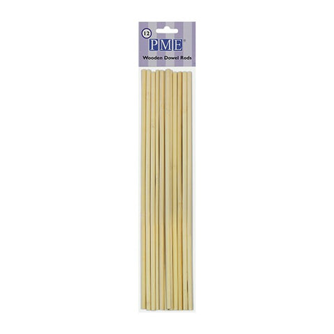 PME Wooden Dowels 304mm (12'') - Pack of 12