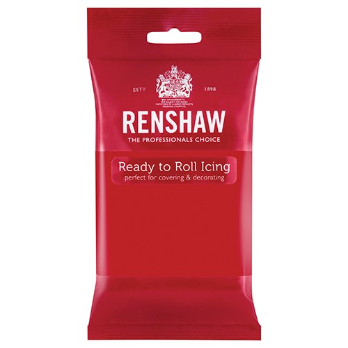Renshaw Professional Sugar Paste Ready to Roll Icing - Poppy Red - 250g