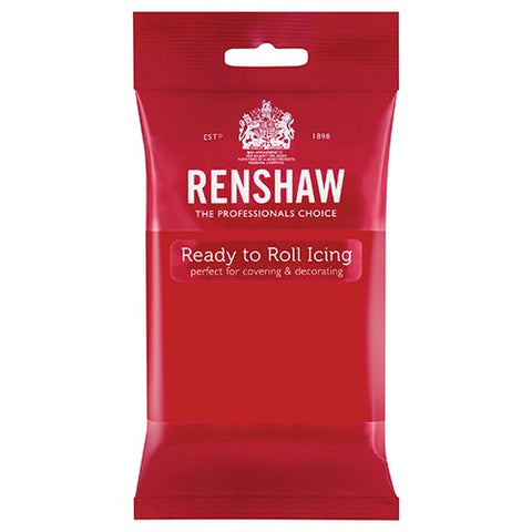 Renshaw Professional Sugar Paste icing - Poppy Red 250g