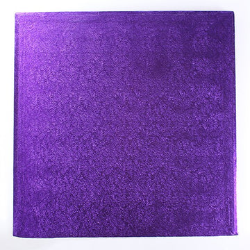 Square Cake Drum Board Purple 8""