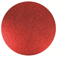 Double Thick Round Turned Edge Cake Card Red 254mm (10'')