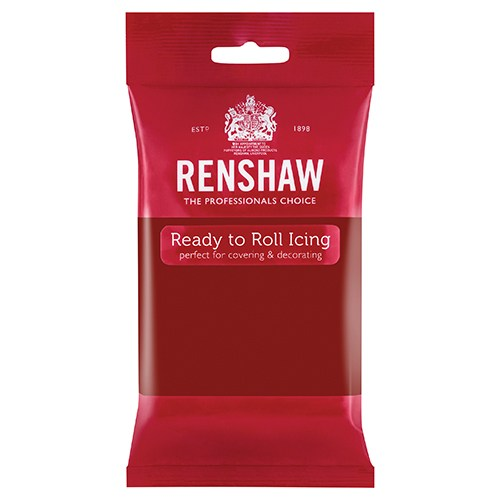 Renshaw Professional Sugar Paste Ready to Roll Icing - Ruby Red - 250g