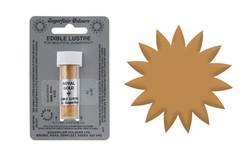 Sugarflair Edible Lustre Dust Royal Gold