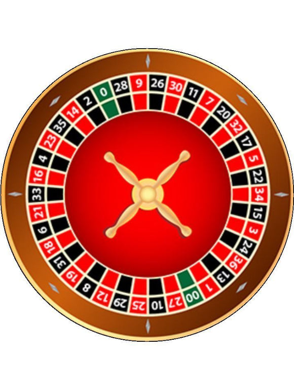 Roulette Casino Game American Personalised Edible Cake Topper Round Icing Sheet