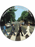 The Beatles Iconic Personalised Edible Cake Topper Round Icing Sheet