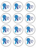 Fathers day happy father's day Edible Printed CupCake Toppers Icing Sheet of 12 Toppers