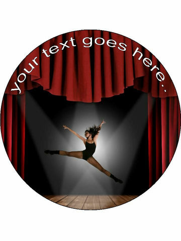 Dance performing arts stage Personalised Edible Cake Topper Round Icing Sheet