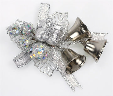 Silver Holly and Bells Christmas Decorations - perfect for cake and craft