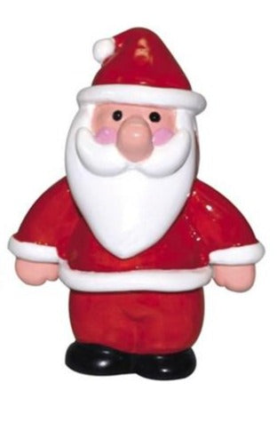 Santa Plastic Standing Cake, Yule Log or Cupcake Christmas Decoration