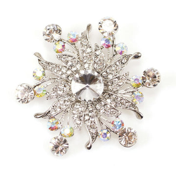 Cake or Craft Star Burst Diamante Brooch 75mm