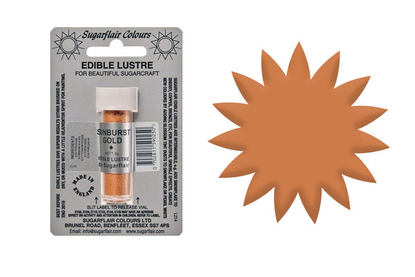 Sugarflair Edible Lustre Dust Sunburst Gold