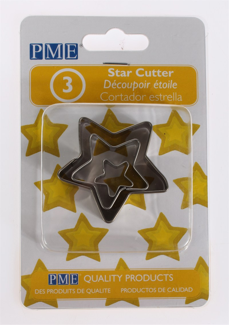 PME Star Cutters 3 piece Set - The Cooks Cupboard Ltd