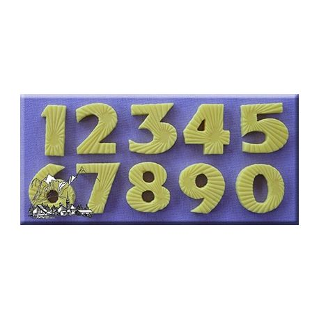 Alphabet Moulds Starburst Effect Numbers Silicone Mould