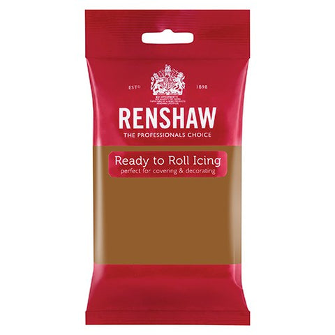 Renshaw Professional Sugar Paste Ready to Roll Icing - Teddy Bear Brown - 250g