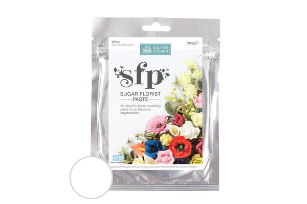 SFP Squires Sugar Florist Paste (Gumpaste) White 200g