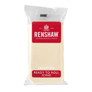 Renshaw Professional Sugar Paste Ready to Roll Icing - White Chocolate- 250g