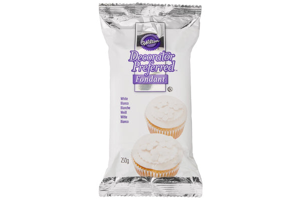 Wilton Decorator Preferred Fondant Sugar Paste Ready to Roll Icing- white - 250g