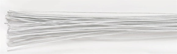 White Floral Sugarcraft Wires - 26g