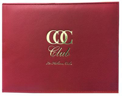 Red Leather Diploma Cover with logo